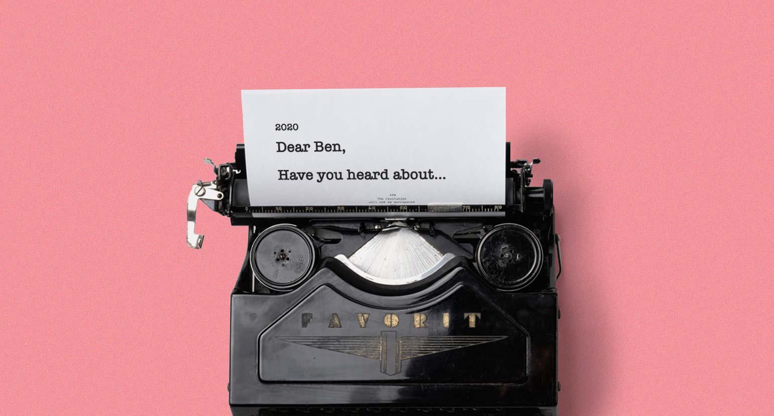 Personalisation marketing trend typewriter