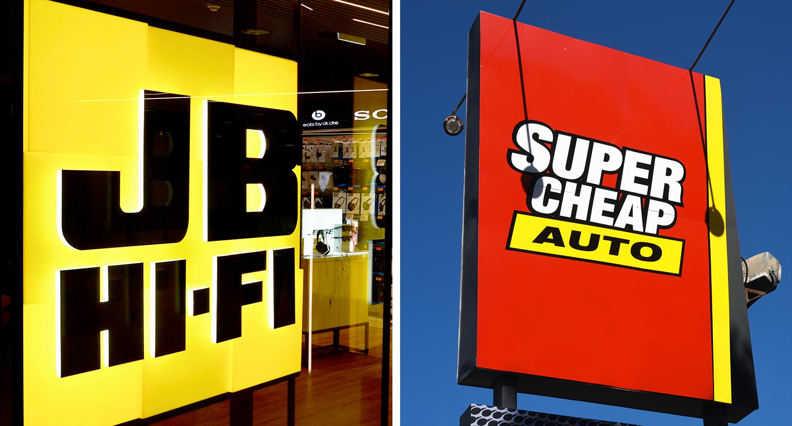 JB Hi-Fi and Super Cheap Auto (Super Retail)