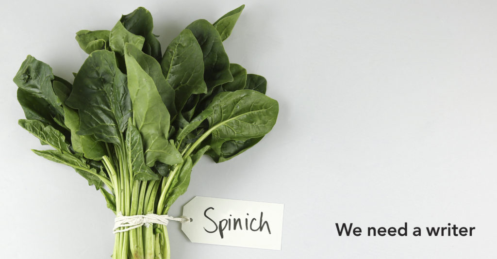 We need a writer - Spinich