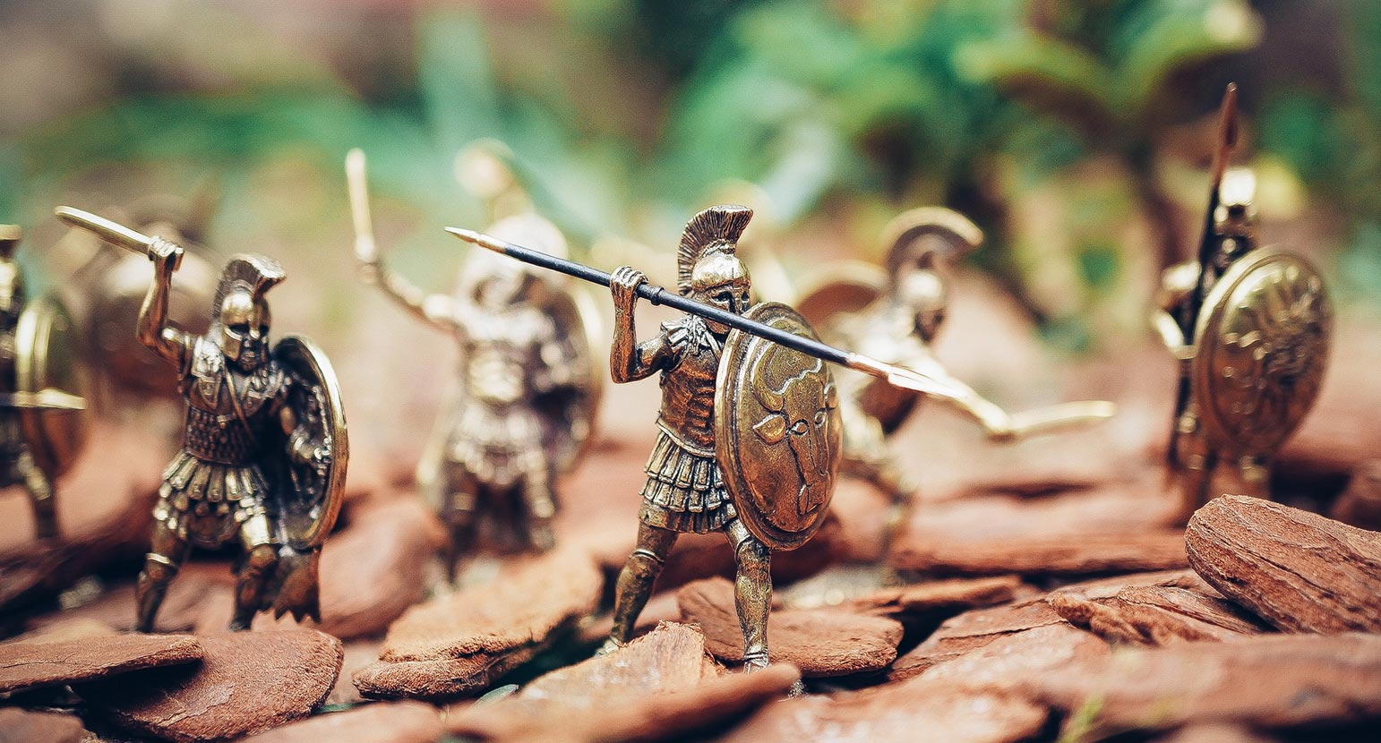 Toy soldiers prepare for battle
